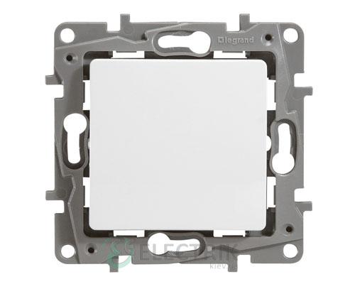 Выключатель 1-клавишный проходной, белый Legrand Etika