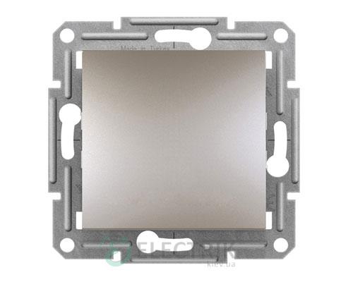 Выключатель одноклавишный проходной, бронза, Asfora EPH0400169