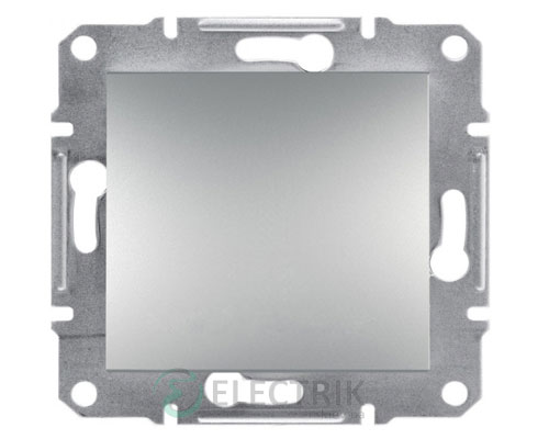 Выключатель одноклавишный со степенью защиты IP44, алюминий Asfora EPH0100261