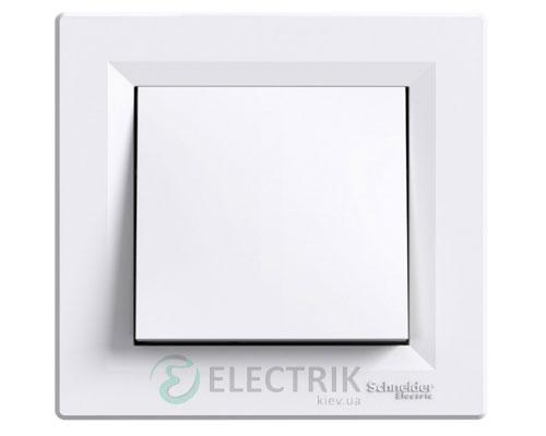 Выключатель одноклавишный со степенью защиты IP44, белый, Asfora EPH0100221