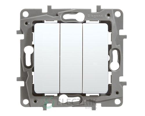 Выключатель 3-клавишный, белый Legrand Etika