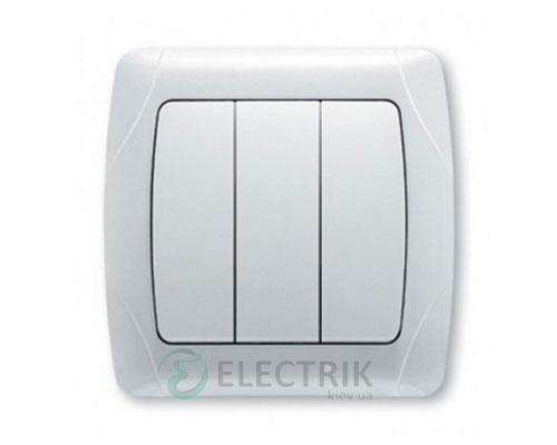 Выключатель Viko Carmen 3 клавишный, белый (90561068)