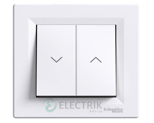 Выключатель для жалюзи, белый, Asfora EPH1300121