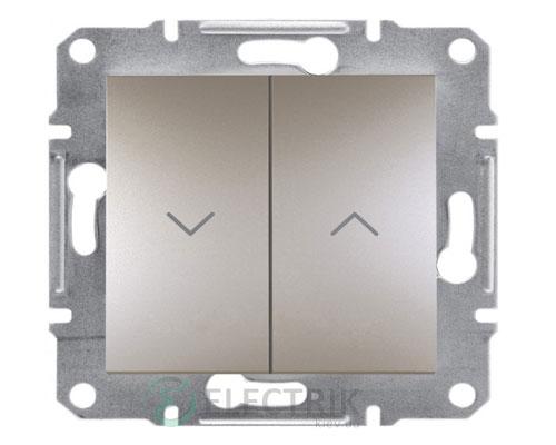 Выключатель для жалюзи, бронза, Asfora EPH1300169