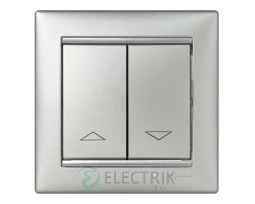 Выключатель для жалюзи электронная блокировка Legrand Valena 10А 770114 (алюминий)