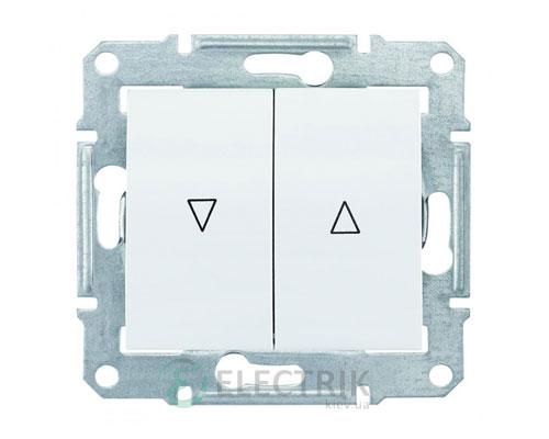Выключатель для жалюзи с электрической блокировкой, белый, Sedna SDN1300121