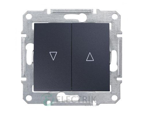 Выключатель для жалюзи с электрической блокировкой, графит, Sedna SDN1300170