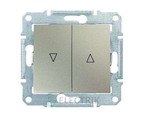 Выключатель для жалюзи с механической блокировкой, титан, Sedna SDN1300368