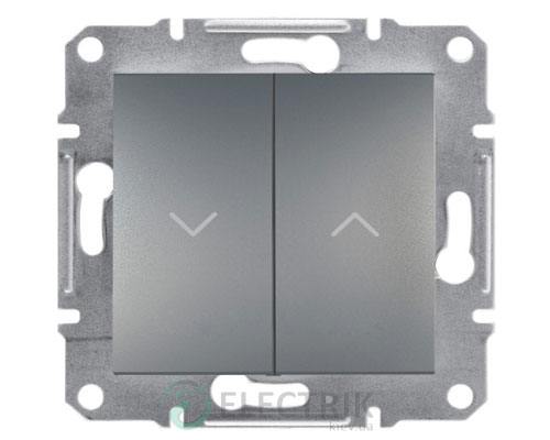 Выключатель для жалюзи, сталь, Asfora EPH1300162