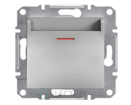 Выключатель карточный, алюминий Asfora EPH6200161