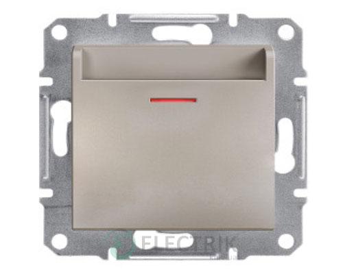 Выключатель карточный, бронза, Asfora EPH6200169