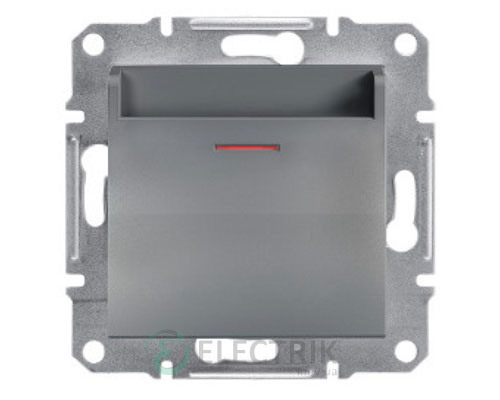 Выключатель карточный, сталь, Asfora EPH6200162