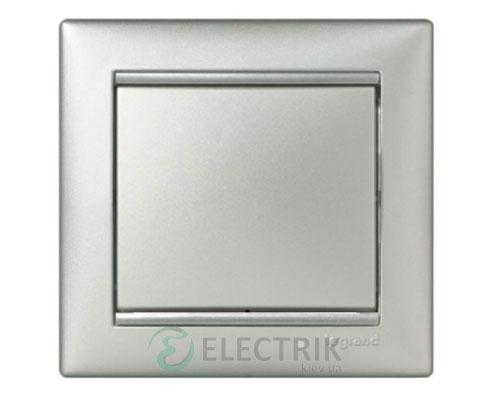 Выключатель одноклавишный перекрестный Legrand Valena 10А 770107 (алюминий)