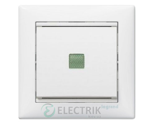 Выключатель одноклавишный перекрестный с подсветкой Legrand Valena 10А 774448 (белый)