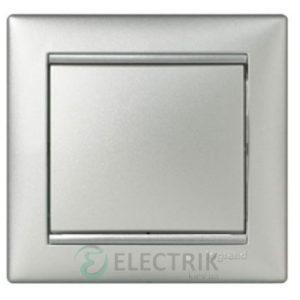 Выключатель одноклавишный проходной Legrand Valena 10А 770106 (алюминий)