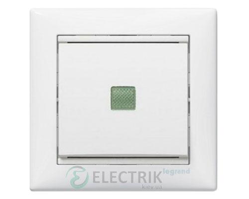 Выключатель одноклавишный проходной с подсветкой Legrand Valena 10А 774426 (белый)