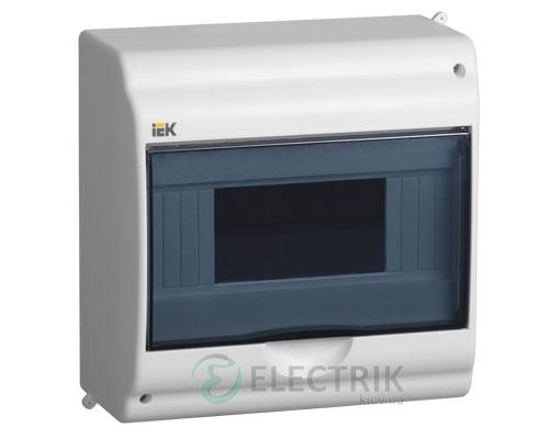 Бокс КМПн 2/9-1 на 9 модулей прозрачная крышка навесной 180х188х96 IP31