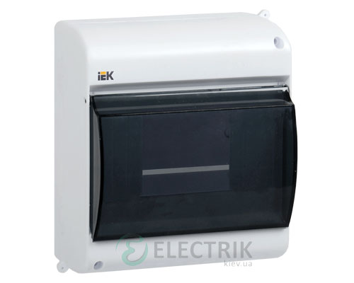 Бокс КМПн 2/4 на 4 модуля прозрачная крышка навесной 140х98х83 IP30