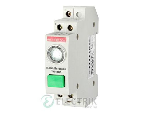 Кнопка управления с индикатором e.pbi.din.green, зеленый