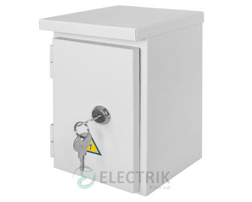 Корпус e.mbox.stand.n.04.z металлический, под 4мод., герметический IP54, навесной, с замком (s0100127)