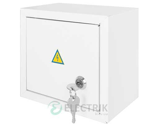 Корпус e.mbox.stand.n.06.z металлический, под 6 мод., навесной, с замком (s0100019)
