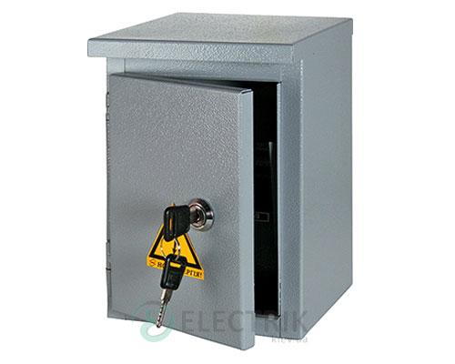 Корпус e.mbox.stand.n.06.z металлический, под 6мод., герметический IP54, навесной, с замком (s0100128)