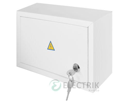 Корпус e.mbox.stand.n.12.z металлический, под 12 мод., навесной, с замком (s0100020)