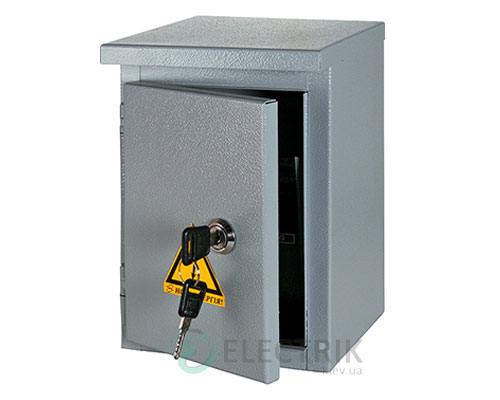 Корпус e.mbox.stand.n.15.z металлический, под 15мод., герметический IP54, навесной, с замком (s0100130)