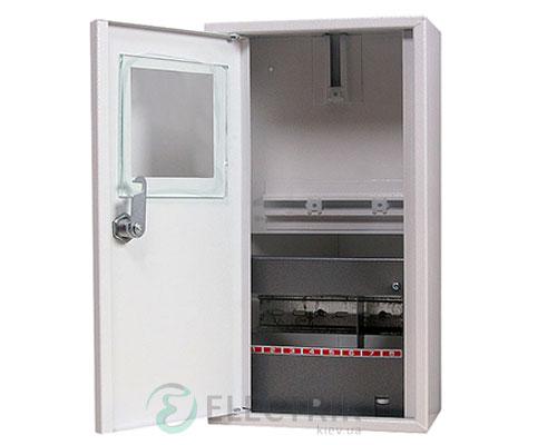 Корпус e.mbox.stand.n.f1.08.z металлический, под 1-ф. счётчик, 8 мод., навесной, с замком