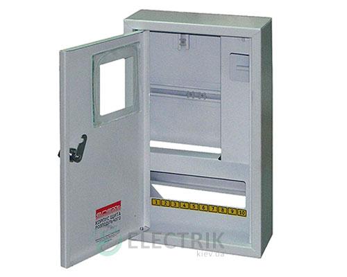 Корпус e.mbox.stand.n.f1.10.z металлический, под 1-ф. счётчик, 10 мод., навесной, с замком