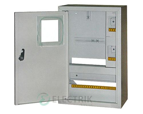 Корпус e.mbox.stand.n.f1.16.z металлический, под 1-ф. счётчик, 16 мод., навесной, с замком