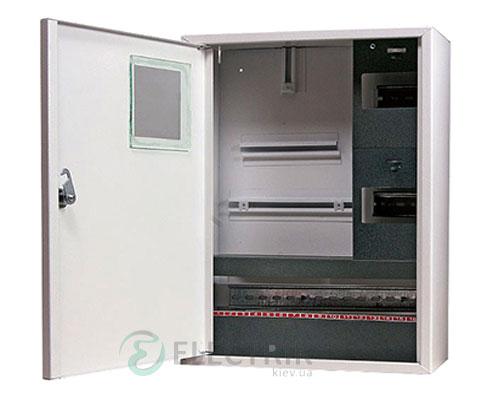 Корпус e.mbox.stand.n.f3.24.z металлический, под 3-ф. счётчик, 24 мод., навесной, с замком
