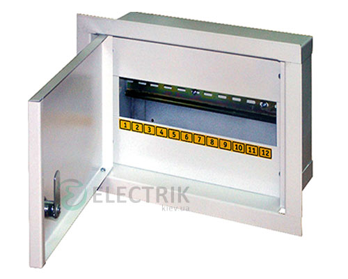 Корпус e.mbox.stand.w.12.z металлический, под 12 мод., встраиваемый, с замком (s0100021)