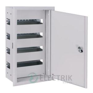 Корпус металлический e.mbox.pro.w.48z IP31 встраиваемый на 48 модулей с замком (s0100212)