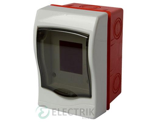 Корпус пластиковый 2-модульный e.plbox.stand.w.02m, встраиваемый