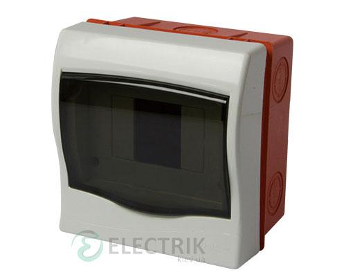 Корпус пластиковый 4-модульный e.plbox.stand.w.04m, встраиваемый