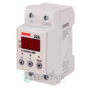 Реле контроля напряжения однофазное 32А c индикацией e.control.v08