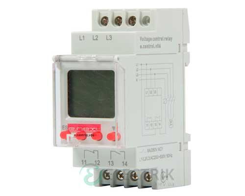 Реле контроля напряжения трехфазное цифровое e.control.v06