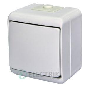 Выключатель одноклавишный с подсветкой ETI HERMETICS VHE-1L Белый
