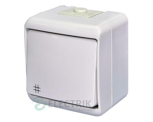 Выключатель перекрестный одноклавишный ETI HERMETICS VHE-6 Белый