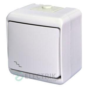 Выключатель проходной одноклавишный с подсветкой ETI HERMETICS VHE-3L Белый