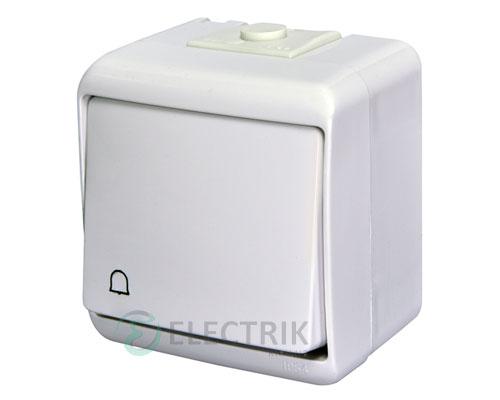 """Выключатель """"звонок"""" одноклавишный с подсветкой ETI HERMETICS VHE-4L Белый"""