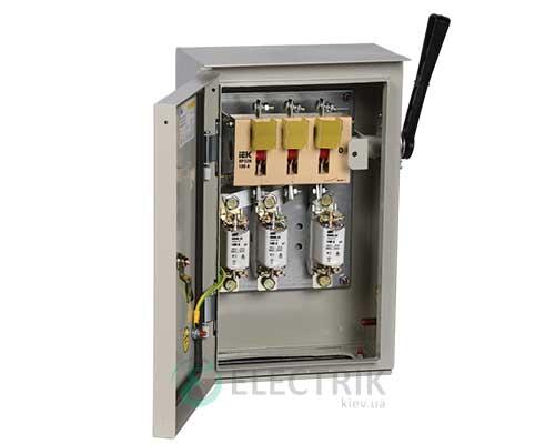 Ящик с рубильником и предохранителями ЯРП-100А 36 УХЛ3 IP31 UA IEK