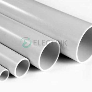 Труба ПВХ жёсткая гладкая д.16мм, тяжёлая, 3м, цвет серый 63516