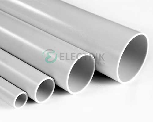 Труба ПВХ жёсткая гладкая д.63мм, лёгкая, 3м, цвет серый 63963