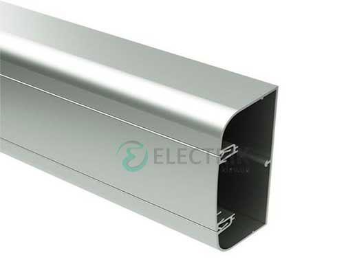 Кабель-канал алюминиевый 110х50мм (с 1 крышкой), цвет серый металлик RAL9006 01199 ДКС