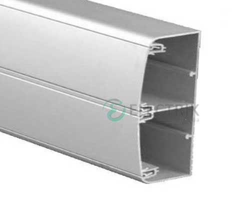 Кабель-канал алюминиевый 140х50 (с 2 крышками), цвет серый металлик RAL9006 01499 ДКС