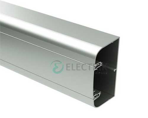 Кабель-канал алюминиевый 90х50мм (с 1 крышкой), цвет серый металлик RAL9006 09599 ДКС