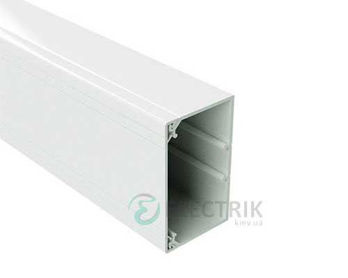 Короб TA-GN 80x60 с направляющими, длина 2м, цвет белый RAL9001 01785 ДКС