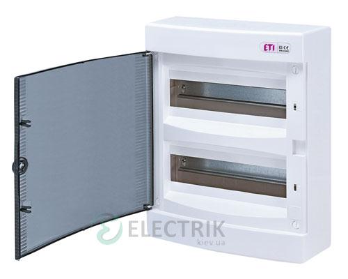 Наружный модульный щит ECT 24PT 24 М с прозрачной дверцей ETI 001101003